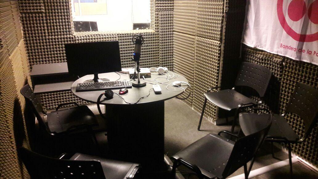 El estudio de radio de Mente Libre y RadioGol
