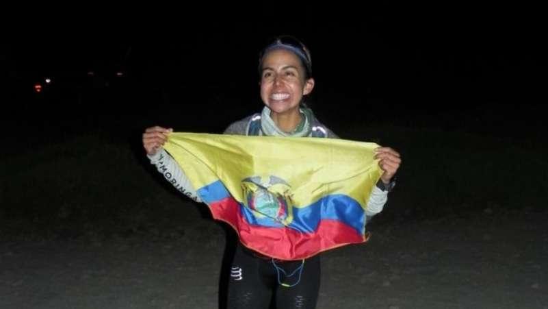 La ecuatoriana Daniela Sandoval se convirtió en la mujer que más rápido subió y bajo del Aconcagua