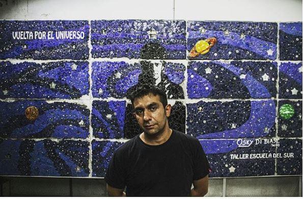 Se inauguró el mural en homenaje a Gustavo Cerati de Osky di Biase