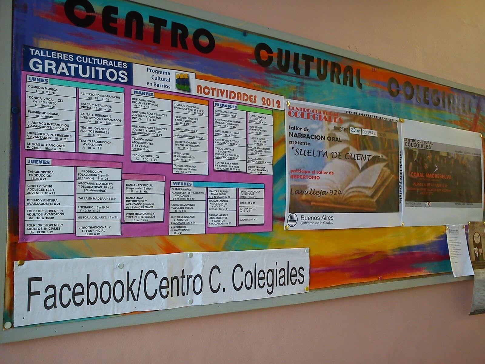El Centro Cultural Colegiales, un espacio para la reunión de los vecinos
