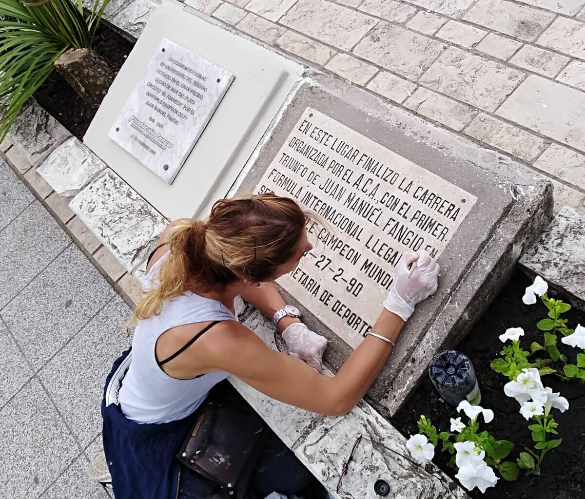 Mar del Plata celebró los 70 años del triunfo de Juan Manuel Fangio en el Torreón del Monje