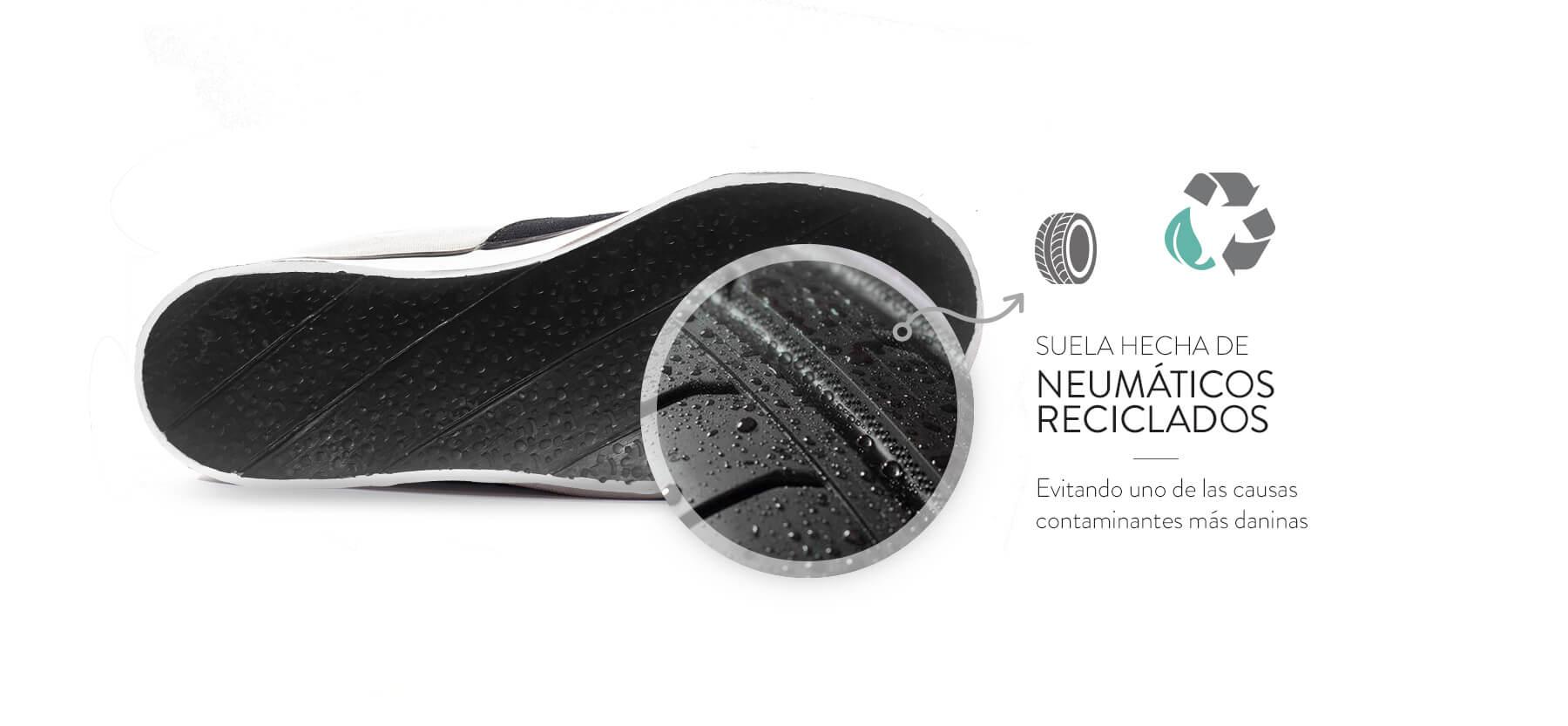 Calzados de neumáticos y mochilas de silobolsas: cómo es reciclar para hacer moda